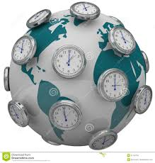 Time Zone Map World Clock by World Clocks Time Stock Photo Image 21363100