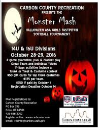 Halloween Monster Mash by Monster Mash Asa Girls Fastpitch Tournament