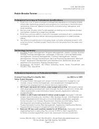 Best Resume Model For Freshers by Senior Project Manager Sample Resume Professional Summary