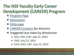 how to write a competitive nsf career proposal ppt download