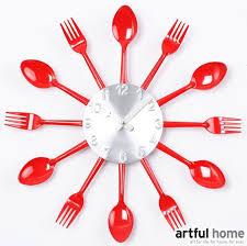 montre de cuisine horloge cuisine fourchette photos de design d intérieur et