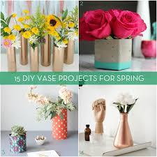 Diy Vase Decor Roundup 15 Diy Vases For Spring Flowers Curbly