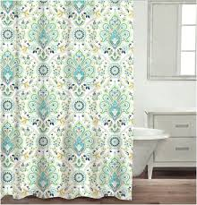 Teal And White Curtains Curtain Blue And White Damask Showerrtainrtains Ideas Navy