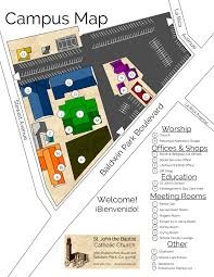 campus map st john the baptist catholic church