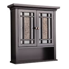 Wall Cabinet Glass Door Home Fashions Wall Cabinet With 2