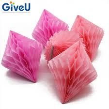 tissue paper decorations giveu 5pcs lot 10 wedding decoration diamond tissue paper honeycomb