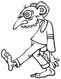 creepy coloring pages zombie coloring pages for kids images coloring zombie coloring