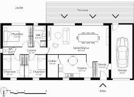 plan de maison en l avec 4 chambres chambre unique plan de maison plain pied 4 chambres avec garage high