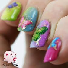 piggieluv rainbow butterflies hand painted