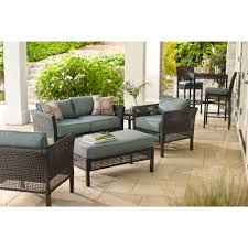 fenton 4 piece wicker outdoor patio seating set with pea java patio