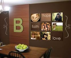 hand writing decal kitchen wall decoration and cream granite
