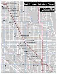 Rush Street Chicago Map by Cta 11 Lincoln Route Extension Pilot Summer 2016