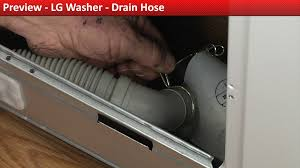 lg washer drain hose replacement youtube