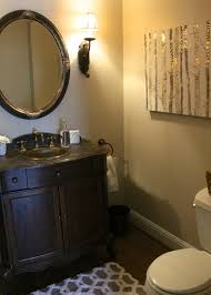 Beautiful Powder Room Mini Powder Room Makeover Love Of Home