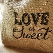 Wedding Gift Bags Printed Love Is Sweet Rustic Burlap Wedding Favor Bags Ewfb119 As