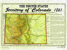 Map Of Colorado State by United States Territories