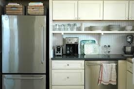 kitchen cabinet shelf open shelves under an upper cabinet