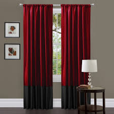 living room beautiful red grommet curtain panels with red