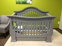 davenport 4 in 1 crib in moon gray also available in pure white