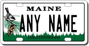 Maine Vanity License Plates Personalized Maine License Plate For Bicycles Kid U0027s Bikes Carts