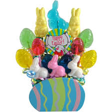 easter candy eggs easter eggs lollipops bouquet candy gift