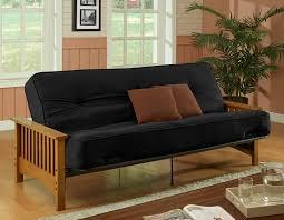 interesting chocolate gray oak wood microfiber mission style sofa