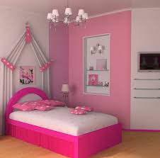 Girls White Bed by Color Ideas For Teenage Room White Pink Colors Wooden Bedside