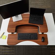 Dark Wood Computer Desk Get Fitter With Varidesk Pro Plus 36 Standing Desk Jays Tech Reviews