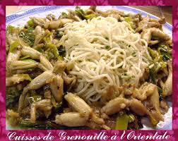 cuisiner des cuisses de grenouilles surgel馥s cuisses de grenouilles à l orientale la cuisine ma