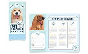 pet grooming service brochure template word u0026 publisher