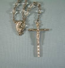 creed rosary creed rosary size 20vintage sterling silver