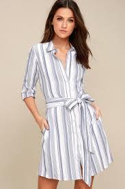 chic dress chic striped shirt dress button shirt dress