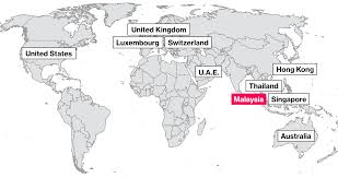Thailand On World Map how malaysia u0027s 1mdb fund scandal reaches around the world