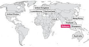 World Map Thailand by How Malaysia U0027s 1mdb Fund Scandal Reaches Around The World