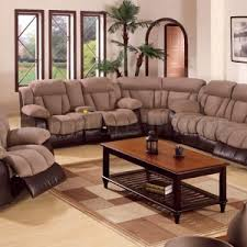 Brown Leather Sectional Sofas With Recliners Sectional Sofa Design Modern Design Small Drawer Long Square
