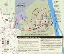 Potomac River On Map Battle Of Ball U0027s Bluff Civil War Trust
