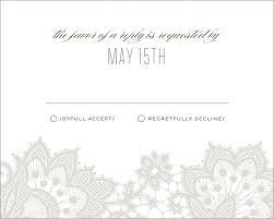 Invitation Acceptance Cards Wedding Response Cards Love U0026 Lace By Mink Mink Cards