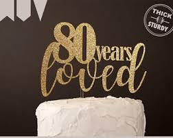 80th Birthday Party Decorations 80th Birthday Decor Etsy