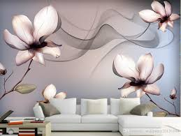 transparent flowers dream background wall mural 3d wallpaper 3d see larger image
