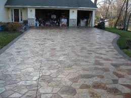 Exposed Aggregate Patio Stones Canyon Stone Driveway With Acid Stained Stones And Exposed