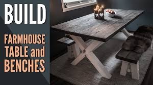 making a farmhouse table and two benches youtube
