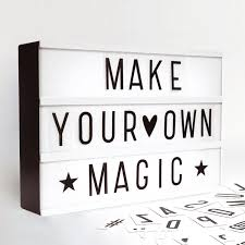 make your own light up sign a4 light up letter box cinematic led wedding home party cinema sign