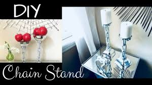 diy chain candle holder home decor using dollar store items youtube