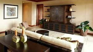 Living Room Design Asian Asian Bedroom With Wooden Tv Stand And Houseplants Asian