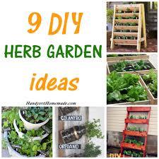 9 diy herb garden ideas handy u0026 homemade