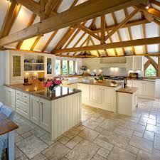 Country House Kitchen Design Wish I Had A Kitchen This Big The Tile Though Wish It Was