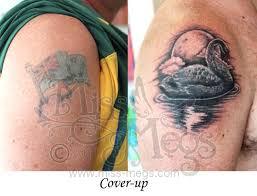 swan cover up over australian flag tattoo miss megs custom