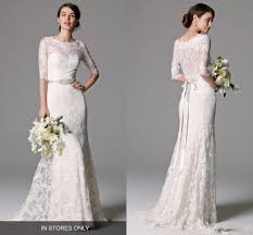 sheath wedding dress marchesa bohemian sheath wedding dresses with half sleeve 2017