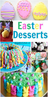easter desserts dinner with the rollos