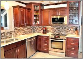 kitchen backsplash cherry cabinets kitchen backsplash cherry cabinets red glass mosaic tile with red